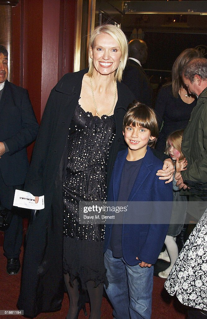 TV presenter Anneka Rice and her son attend the 'Mary Poppins' Gala Preview ahead of tomorrow's press night at the Prince Edward Theatre on December 14, 2004 in London.