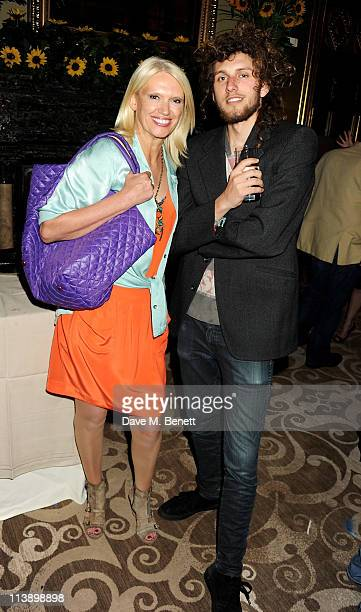 Presenter Anneka Rice and son Thomas attend a party hosted by Sir Cameron Mackintosh for theatrical producer Nick Allott at St Pancras Renaissance...