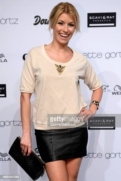Presenter Annica Hansen attends the Annette Goertz show during Platform Fashion Dusseldorf on February 1 2014 in Dusseldorf Germany