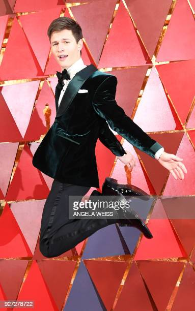 Presenter Ansel Elgort arrives for the 90th Annual Academy Awards on March 4 in Hollywood California / AFP PHOTO / ANGELA WEISS
