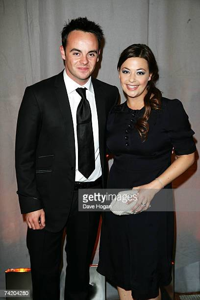 TV presenter Ant McPartlin and his wife attend the British Academy Television Awards afterparty at the Natural History Museum on May 20 2007 in...