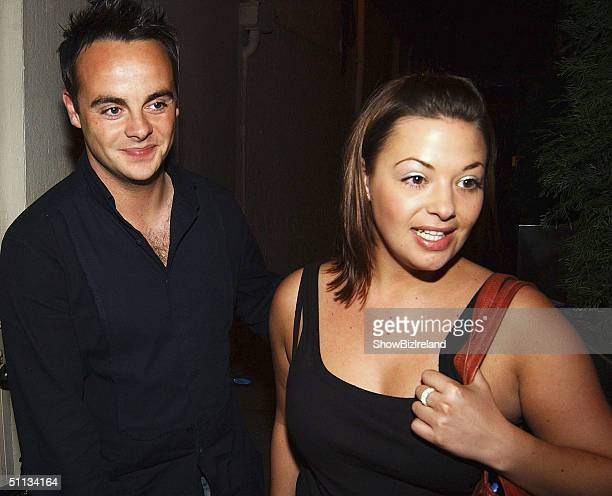 TV presenter Ant McPartlin and longterm girlfriend Lisa Armstrong attend Jonathan Wilkes' 26th Birthday Party at Lillies Bordello nightclub on August...