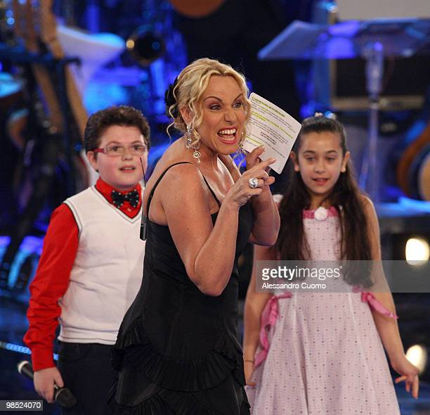 TV presenter Antonella Clerici attend 'Ti Lascio Una Canzone' Italian Tv Show at the Auditorium of Napoli on April 17 2010 in Naples Italy