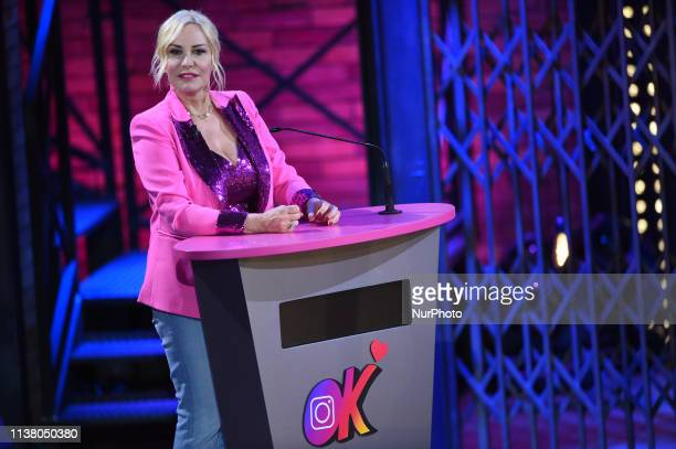 Presenter Antonella Clerici guest during tv program EPCC , tv show on air on Sky Uno, Sky Tv Italy