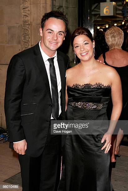 Presenter Antony McPartlin and his guest arrive for the National Television Awards 2005 at the Royal Albert Hall on October 25 2005 in London England