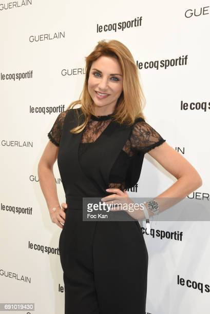 TV presenter Ariane Brodier attends Le Coq Sportif x Guerlain photocall at the Le Coq Sportif Flagship on May 31 2017 in Paris France