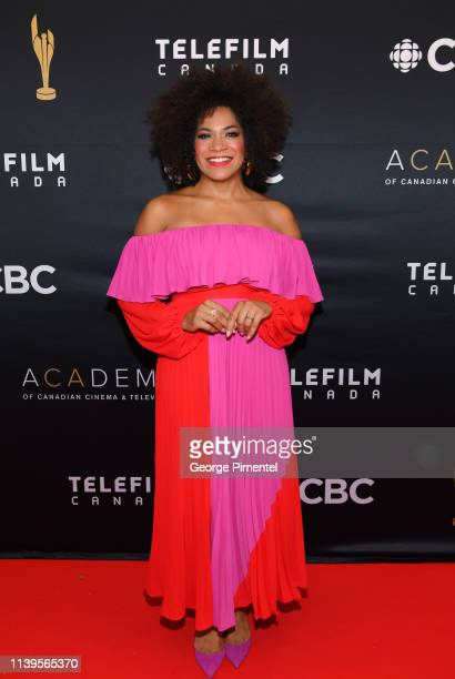 Presenter Arisa Cox attends the 2019 Canadian Screen Awards Broadcast Gala at Sony Centre for the Performing Arts on March 31 2019 in Toronto Canada