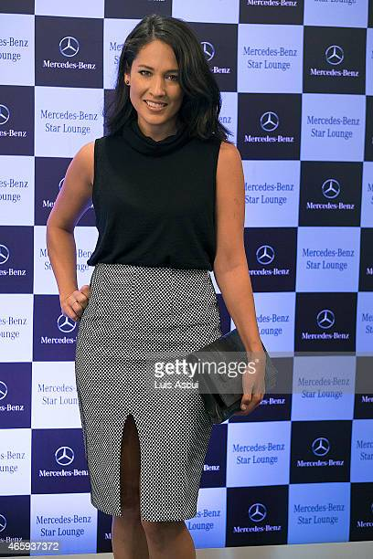 Presenter at channel 10 Mel McLaughlin at the MercedesBenz Ladies Day as part of the 2015 Australian Grand Prix on March 12 2015 in Melbourne...