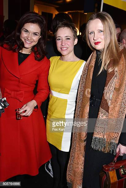 TV presenter Aude Taillandier from QVC France actress Odile VanhoutteÊand fashion designer Kasia Grzelak from Hername is Rita attend the 'Polish...