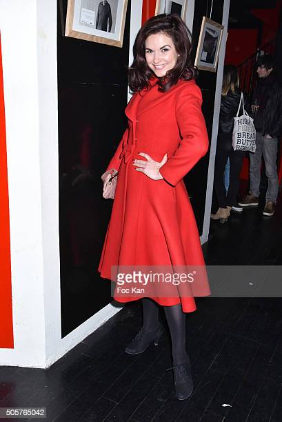 TV presenter Aude Taillandier from QVC TV FranceÊattends the 'Polish Hope' Short Movie Screening Party at Cinema Grand Action on January 19 2016 in...