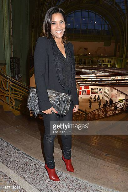 TV presenter Audrey Chauveau attends the 'Diamond Night by Divinescence Vendome' Harumi Klossowska Jewellery Exhibition Preview As Part Of Art Paris...