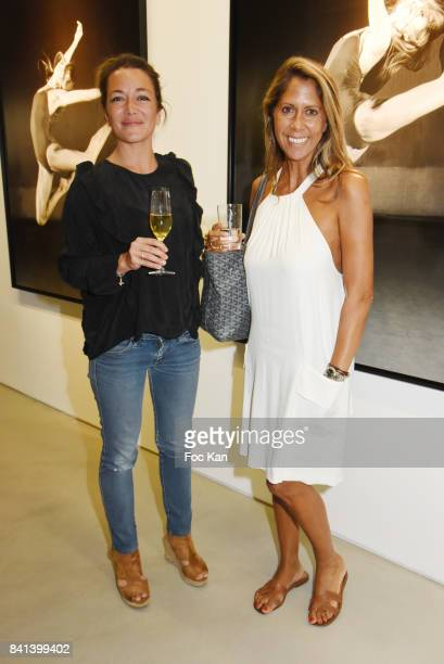 FR3 TV presenter AudreyTinthoin and TV presenter/actress Rachel Bourlier attend 'Bolchoi' Vincent Perez Photo Exhibition Preview at Royal Monceau on...