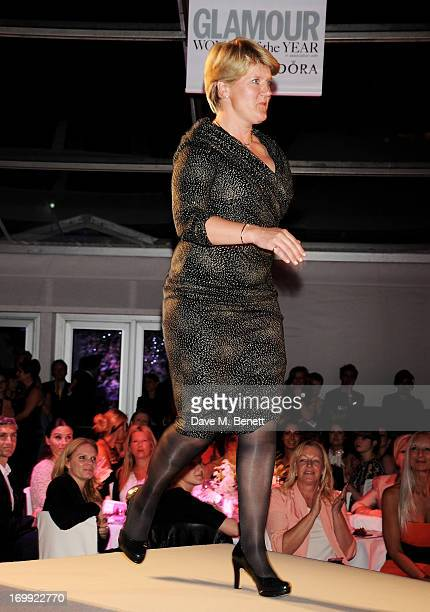 Presenter Award winner Clare Balding poses at the Glamour Women of the Year Awards in association with Pandora at Berkeley Square Gardens on June 4...