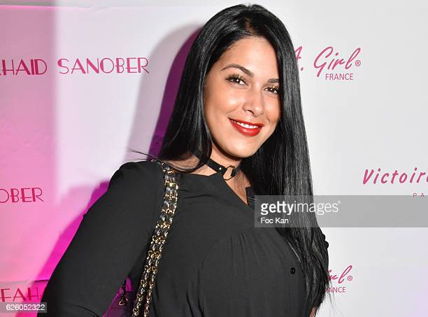 TV presenter Ayem Nour from Mad Mag NRJ12 TV attend LA Girl Paris Cosmetics Launch and Fahaid Sanober 8TH Anniversary Cocktail at 32 rue Faubourg...