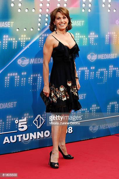 Presenter Barbara D'Urso attends Mediaset TV programming presentation on July 2 2008 in Milan Italy