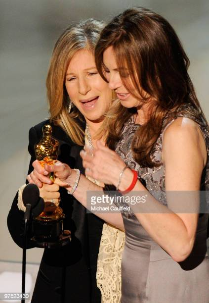 Presenter Barbara Streisand and director Kathryn Bigelow onstage during the 82nd Annual Academy Awards held at Kodak Theatre on March 7 2010 in...