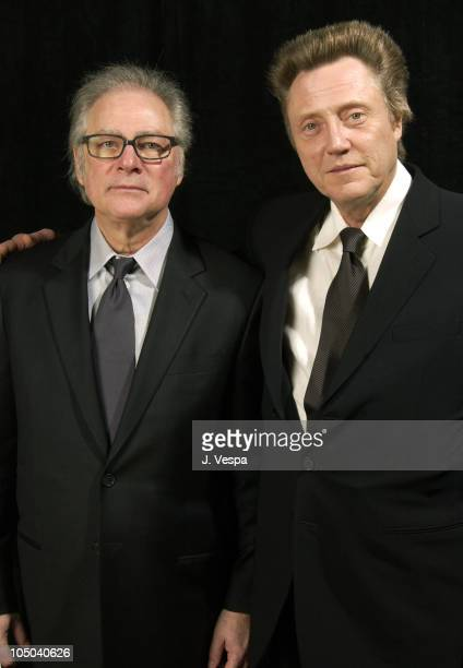 Presenter Barry Levinson and Christopher Walken Winner of Supporting Actor of the Year