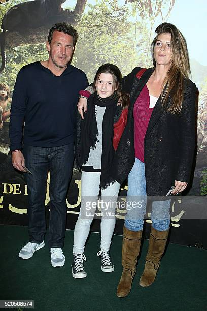 Presenter Benjamin Castaldi and his partner Aurore Aleman attend Le Livre De La Jungle Paris Premiere at Cinema Pathe Beaugrenelle on April 11 2016...