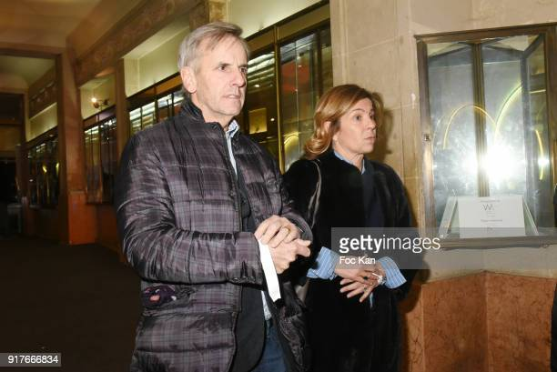 TV presenter Bernard de La Villardiere and his wife Anne attend the 23 eme Ceremonie des Lauriers de La Radio et de La Television at Palace Theater...