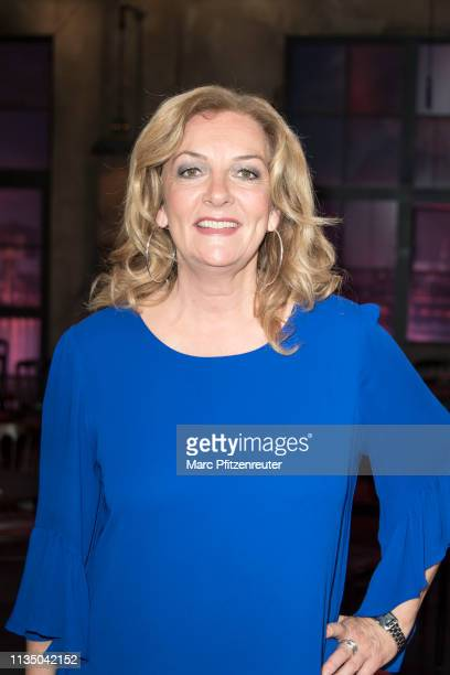 TV presenter Bettina Tietjen attends the Koelner Treff TV Show at the WDR Studio on April 5 2019 in Cologne Germany