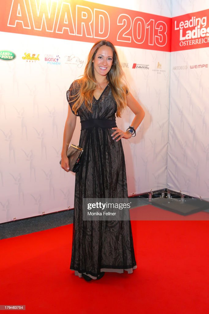 PULS4 presenter Bianca Schwarzjirg attends the Leading Ladies Awards 2013 at Belvedere Palace on September 3, 2013 in Vienna, Austria.