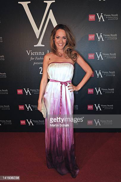 TV presenter Bianca Schwarzjirg attends the Vienna Awards For Fashion Lifestyle at Museumsquartier on March 26 2012 in Vienna Austria