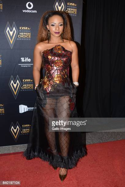 TV Presenter Boity Thulo during the DStv Mzansi Viewers Choice Awards event at the Sandton Convention Centre on August 26 2017 in Sandton South...