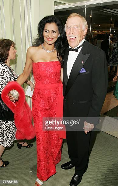 TV presenter Bruce Forsyth and his wife Winelia arrive at the TV Quick and TV Choice Awards at the Dorchester Hotel Park Lane on September 4 2006 in...