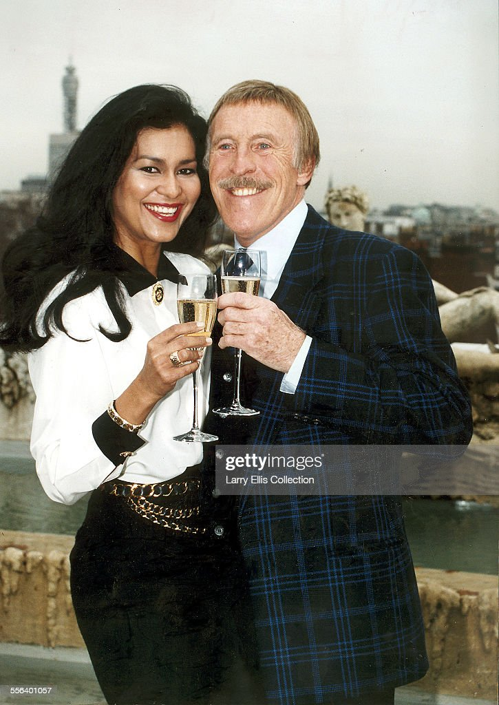 TV presenter Bruce Forsyth pictured with his wife Wilnelia Merced in London, October 1993.