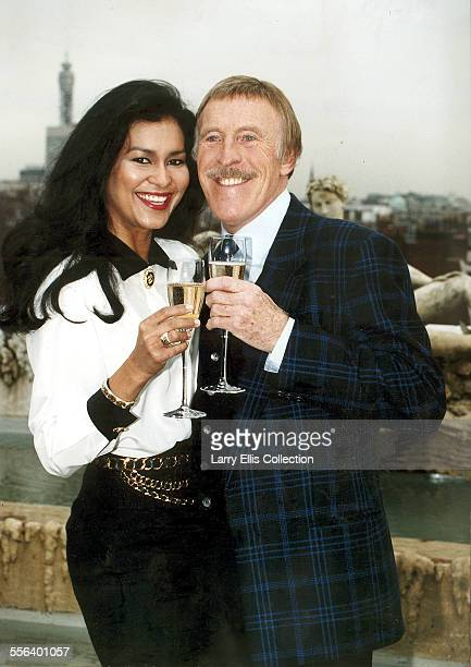 TV presenter Bruce Forsyth pictured with his wife Wilnelia Merced in London October 1993