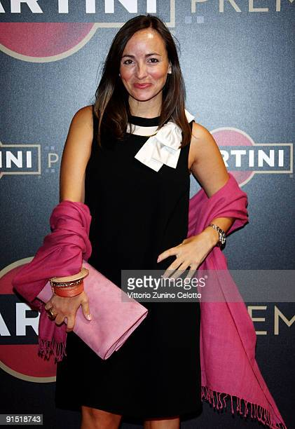 Presenter Camila Raznovich attends the Martini Premiere Award Ceremony Red Carpet at Palazzo Reale on October 6 2009 in Milan Italy