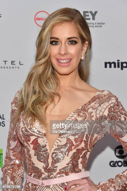 Presenter Carmen Aub attends the 45th International Emmy Awards at New York Hilton on November 20 2017 in New York City