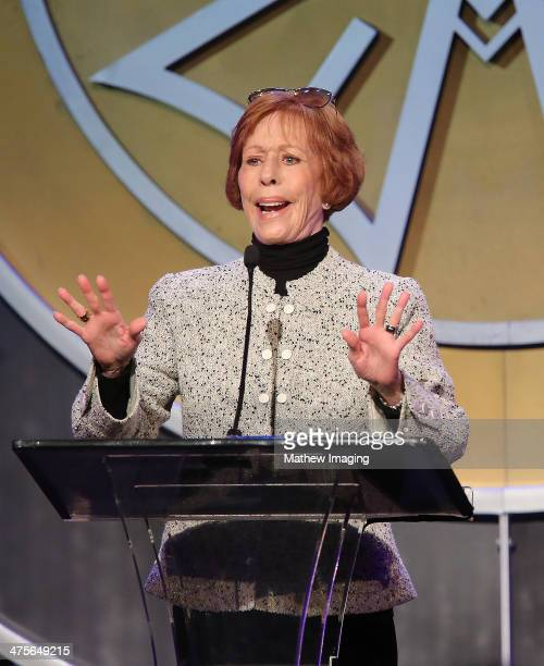 Presenter Carol Burnett onstage at the 51st Annual ICG Publicists Awards held at the Beverly Wilshire Four Seasons Hotel on February 28, 2014 in...