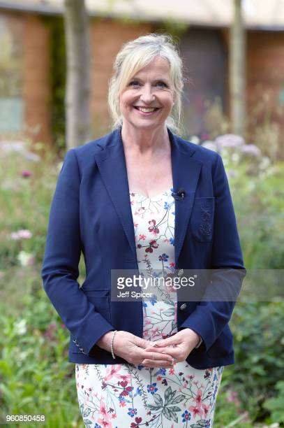 Presenter Carol Kirkwood attends the Chelsea Flower Show 2018 on May 21 2018 in London England