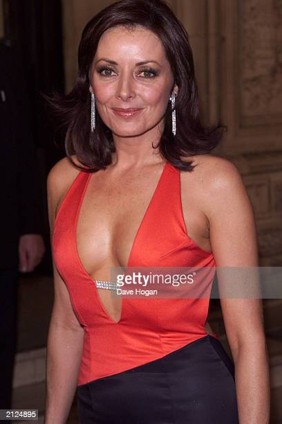 TV presenter Carol Vorderman attends the National Television Awards at the Royal Albert Hall in London on October 23 2001