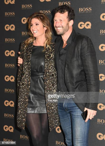 TV presenter Caroline Ithurbide and her husband Boris Ehrgott attend the Les GQ Men Of The Year Awards 2017 Photocall at Trianon on November 15 2017...