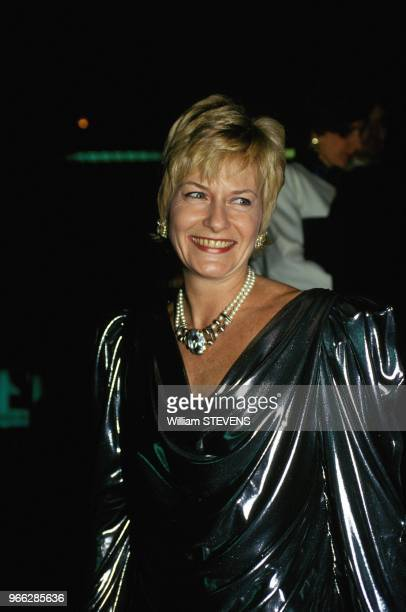 Presenter Catherine Ceylac At 7 D Or French Television Awards Ceremony Paris December 14 1993