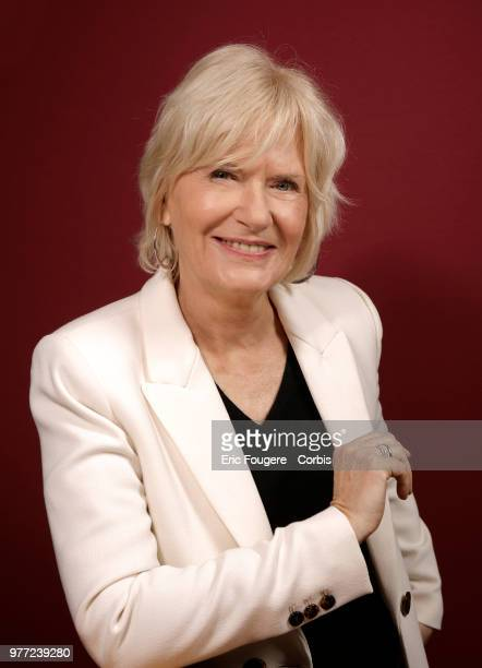 Presenter Catherine Ceylac poses during a portrait session in Paris France on