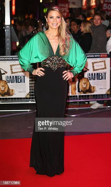 Presenter Charlotte Jackson attends the World Premiere of Gambit at Empire Leicester Square on November 7 2012 in London England