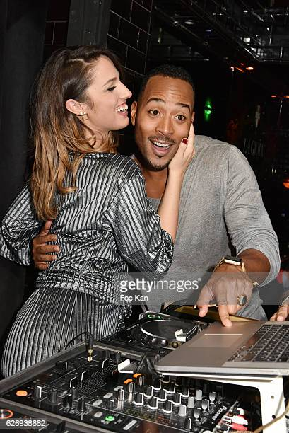 TV presenter Charlotte Namura and companion Jeanluc GuizonneÊfrom Star Academy attend Charlotte Namura and Clio Pajczer DJ Party at La Gioia in VIP...