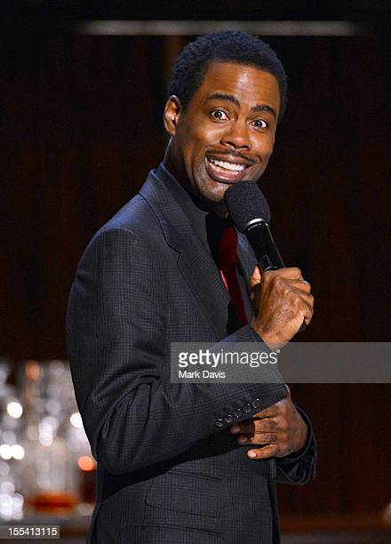 """Presenter Chris Rock speaks onstage at Spike TV's """"Eddie Murphy: One Night Only"""" at the Saban Theatre on November 3, 2012 in Beverly Hills,..."""