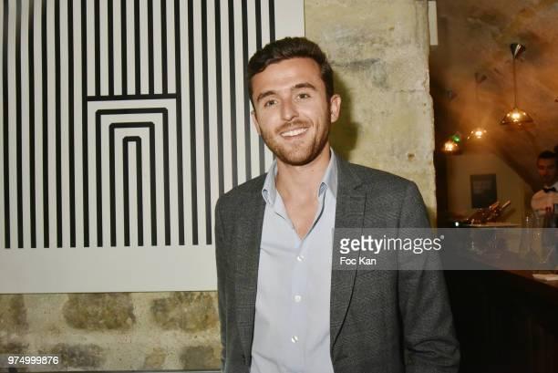 TV presenter Christopher Quarez from LCI attends the Archiman Men Body Care Launch Party at 22 Rue de L'Universite on June 14 2018 in Paris France