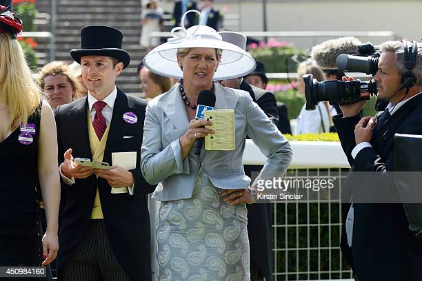 Presenter Clare Balding attends day five of Royal Ascot at Ascot Racecourse on June 21 2014 in Ascot England