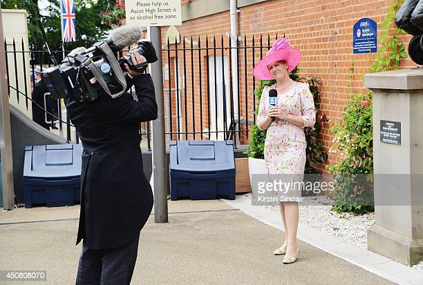 Presenter Clare Balding is seen during day two of Royal Ascot at Ascot Racecourse on June 18 2014 in Ascot England