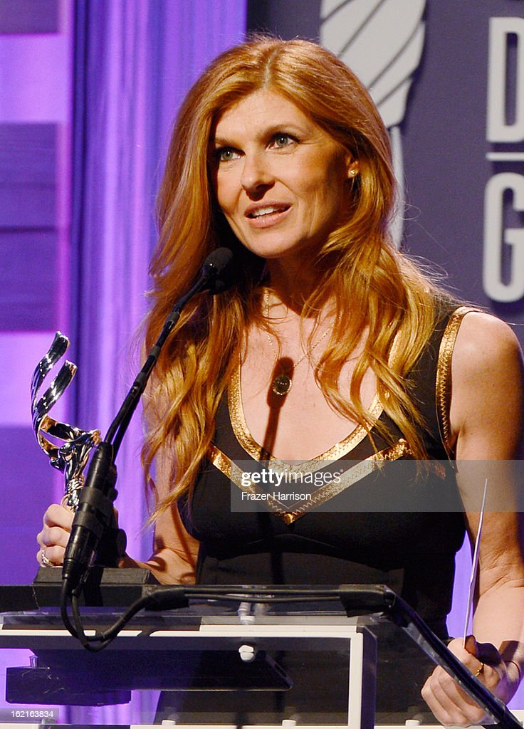 Presenter Connie Britton speaks onstage during the 15th Annual Costume Designers Guild Awards with presenting sponsor Lacoste at The Beverly Hilton Hotel on February 19, 2013 in Beverly Hills, California.