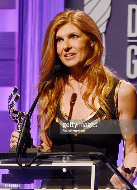 Presenter Connie Britton speaks onstage during the 15th Annual Costume Designers Guild Awards with presenting sponsor Lacoste at The Beverly Hilton...