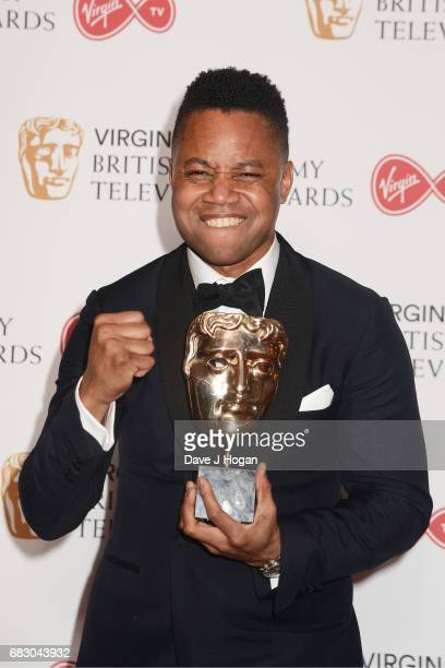 Presenter Cuba Gooding Jr poses in the Winner's room at the Virgin TV BAFTA Television Awards at The Royal Festival Hall on May 14 2017 in London...