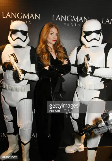 TV presenter Cyrielle Joelle attends the Star Wars Party at Le Saint Fiacre on December 12 2017 in Paris France