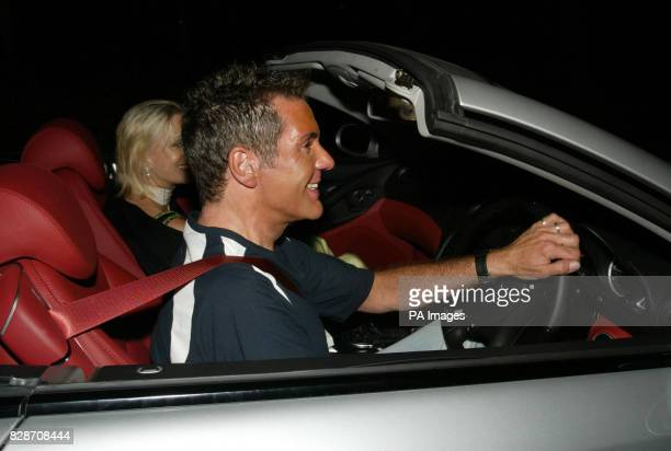 Presenter Dale Winton arriving at the home of TV presenter Cilla Black. Cilla was celebrating her 60th birthday with a party at her luxury home...