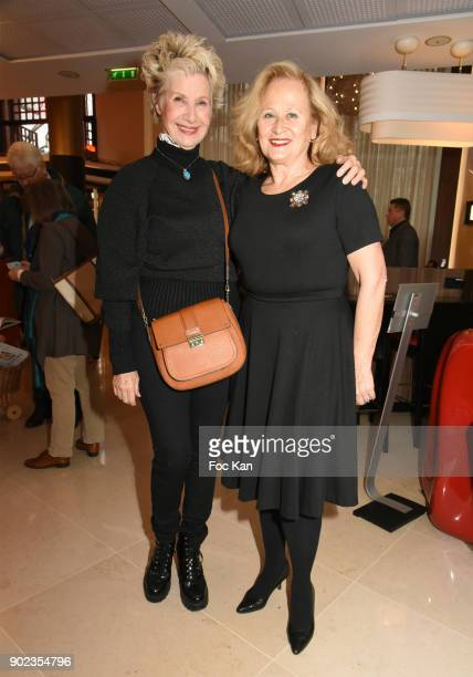 TV presenter Daniele Gilbert and Katia Tchenko attend 'Heros en Mer' Patrick and Olivier Poivre d'Arvor Book Signing at Hotel Courtyard Mariott...